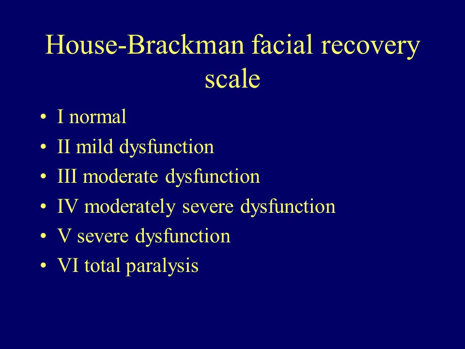 House-Brackman facial recovery scale