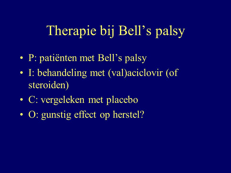 Therapie bij Bell's palsy