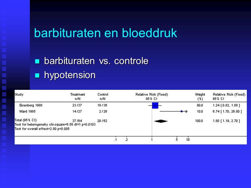 barbituraten en bloeddruk