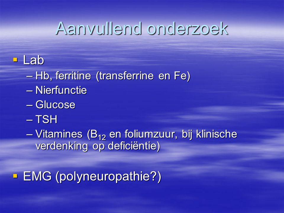 Aanvullend onderzoek Lab EMG (polyneuropathie )