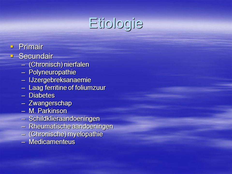 Etiologie Primair Secundair (Chronisch) nierfalen Polyneuropathie
