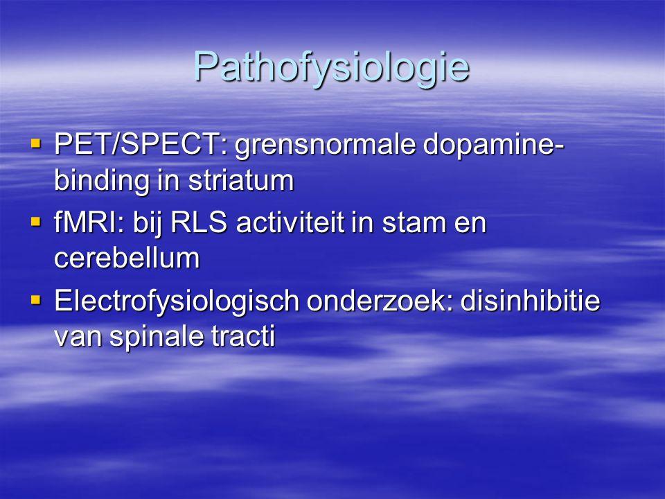 Pathofysiologie PET/SPECT: grensnormale dopamine-binding in striatum