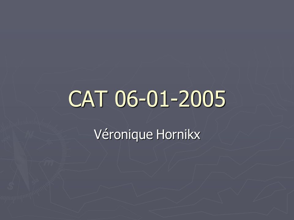 CAT Véronique Hornikx