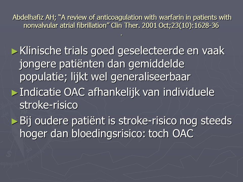 Indicatie OAC afhankelijk van individuele stroke-risico