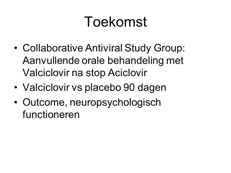Toekomst Collaborative Antiviral Study Group: Aanvullende orale behandeling met Valciclovir na stop Aciclovir.