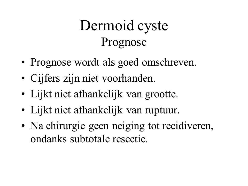 Dermoid cyste Prognose