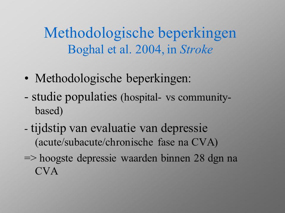 Methodologische beperkingen Boghal et al. 2004, in Stroke