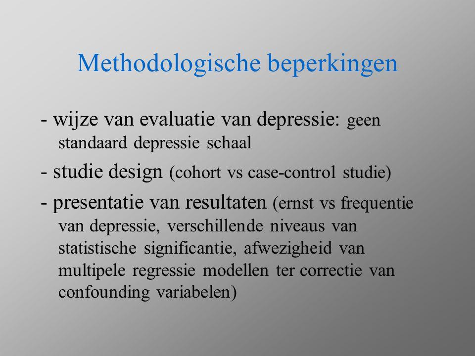 Methodologische beperkingen