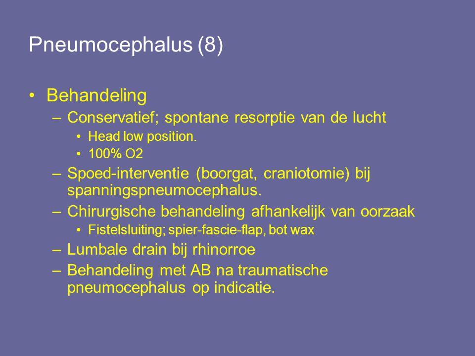 Pneumocephalus (8) Behandeling