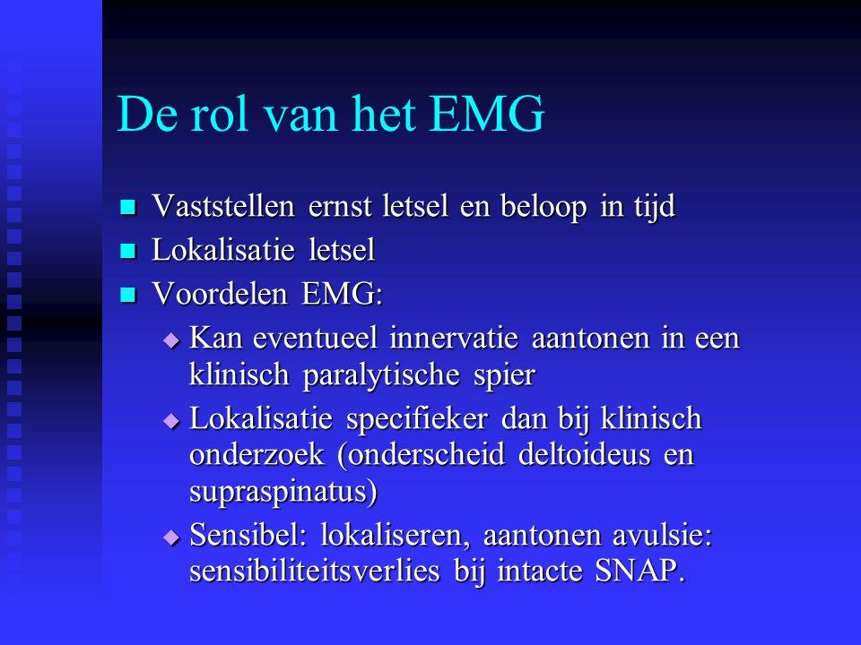 De rol van het EMG Vaststellen ernst letsel en beloop in tijd