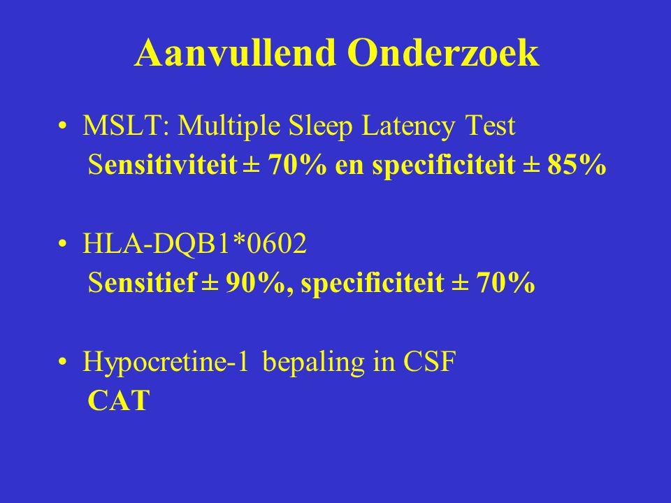 Aanvullend Onderzoek MSLT: Multiple Sleep Latency Test