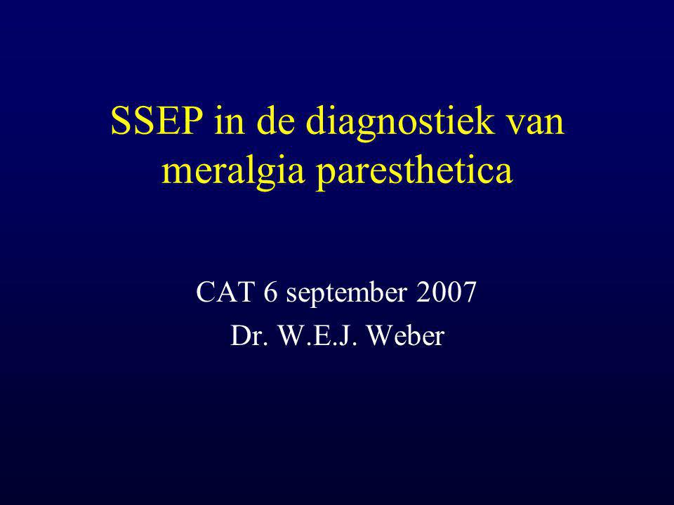 SSEP in de diagnostiek van meralgia paresthetica