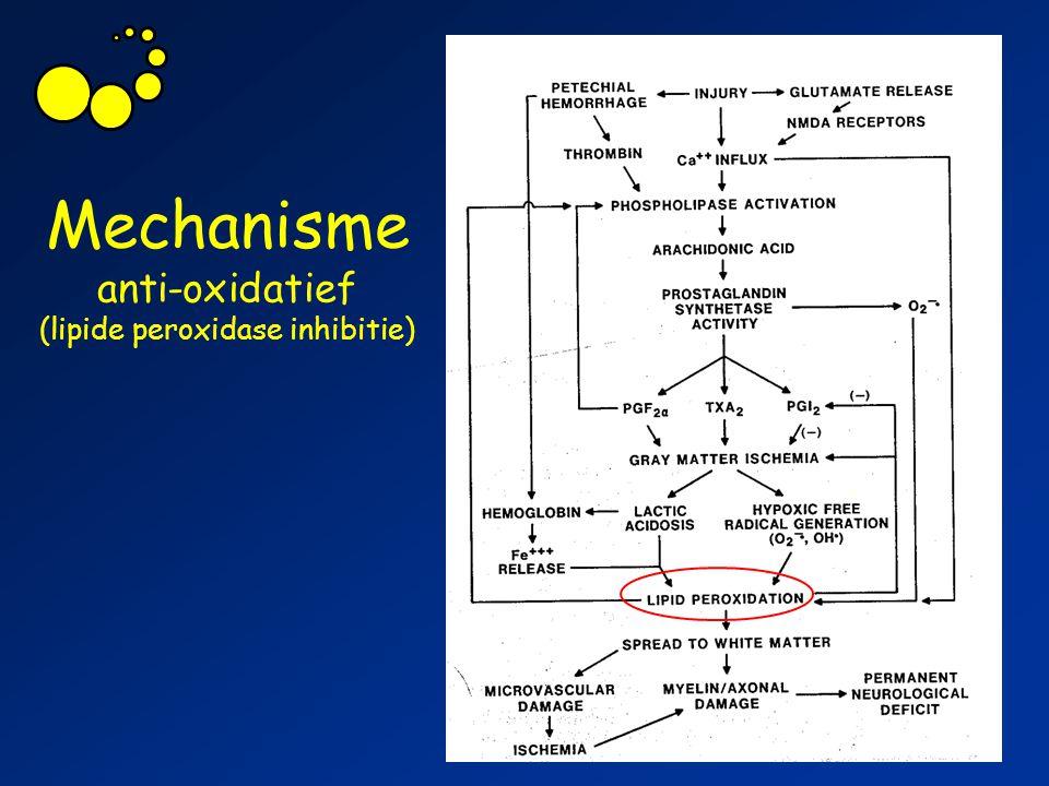 Mechanisme anti-oxidatief (lipide peroxidase inhibitie)