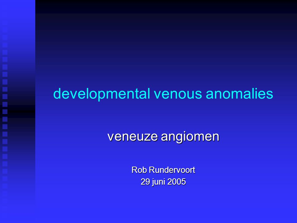 developmental venous anomalies