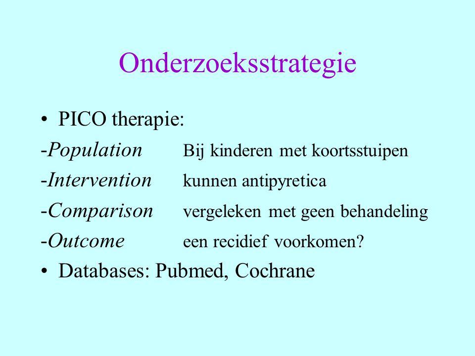 Onderzoeksstrategie PICO therapie: