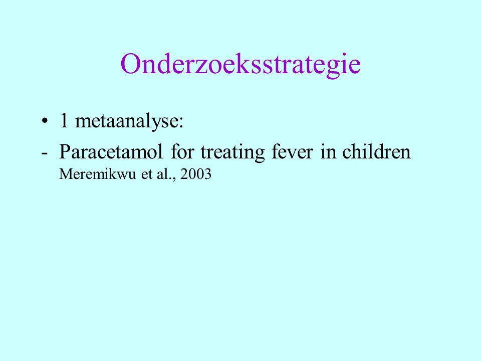 Onderzoeksstrategie 1 metaanalyse: