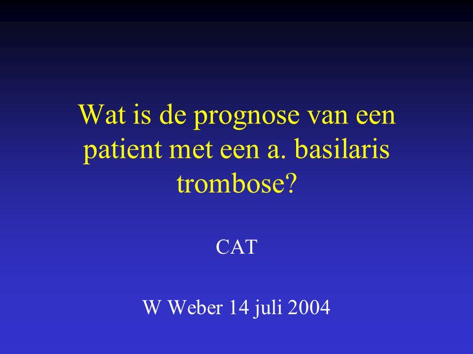 Wat is de prognose van een patient met een a. basilaris trombose