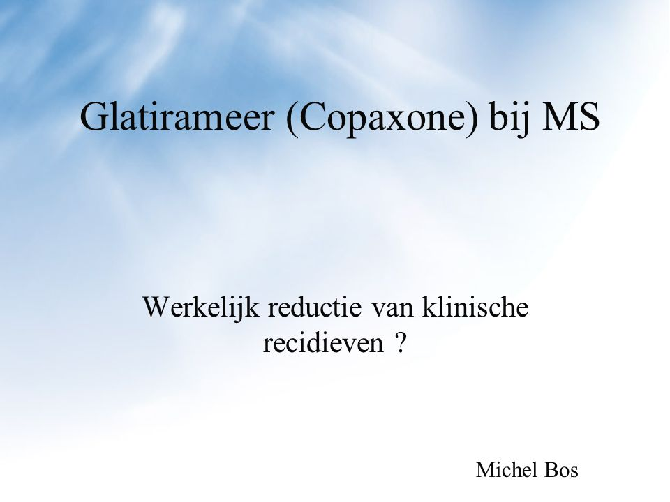 Glatirameer (Copaxone) bij MS