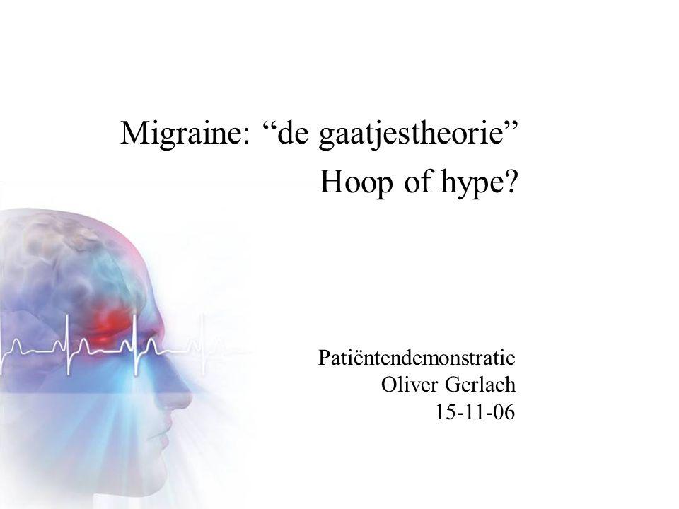 Migraine: de gaatjestheorie Hoop of hype