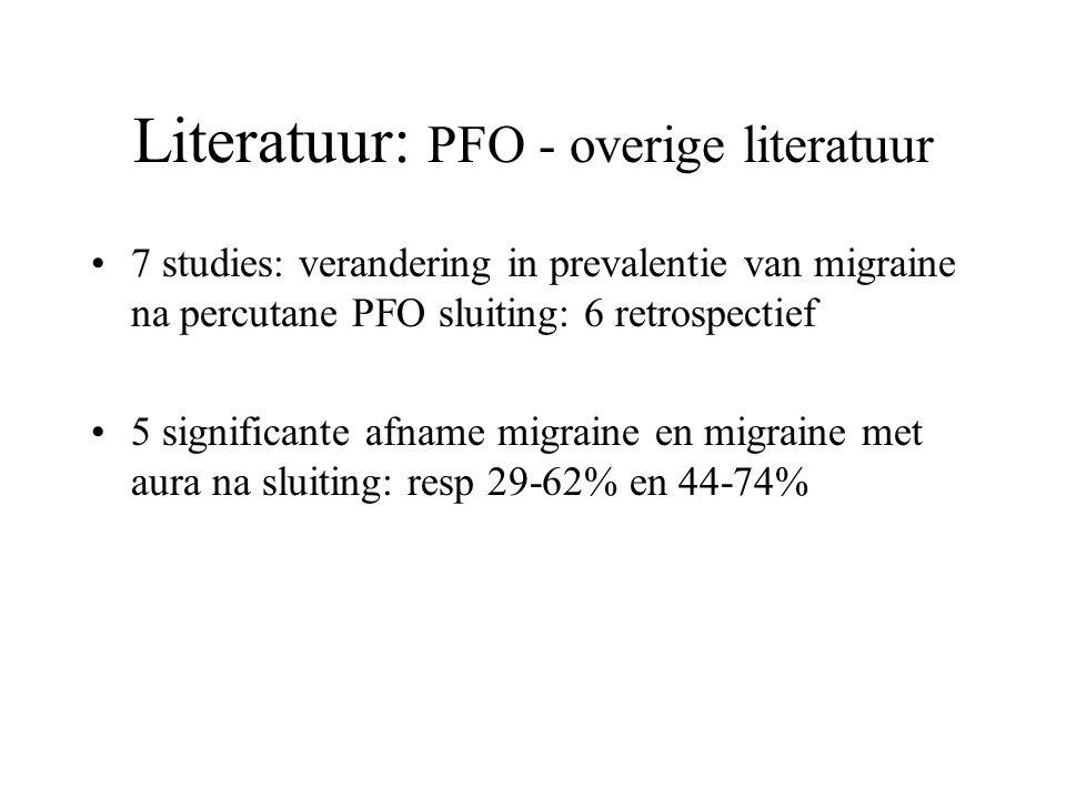 Literatuur: PFO - overige literatuur