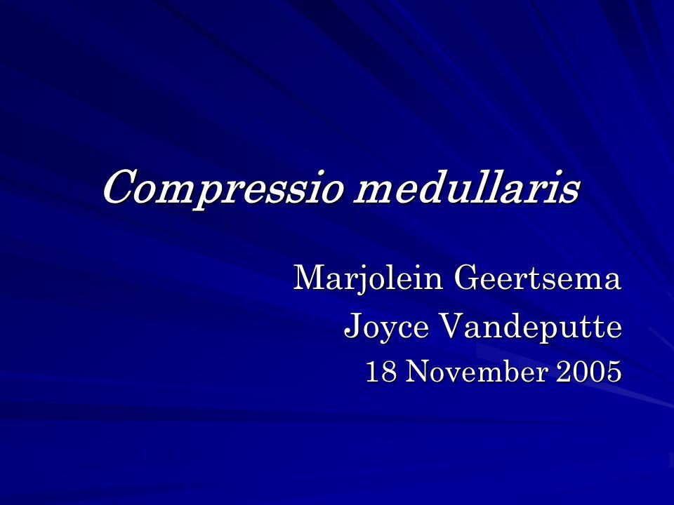 Compressio medullaris