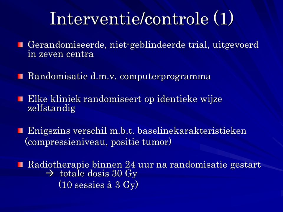Interventie/controle (1)