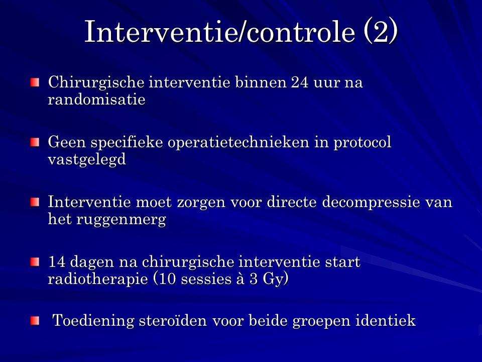 Interventie/controle (2)