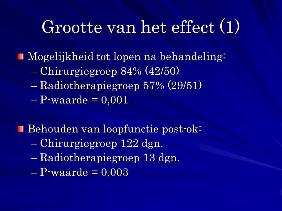 Grootte van het effect (1)