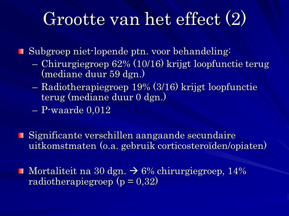 Grootte van het effect (2)