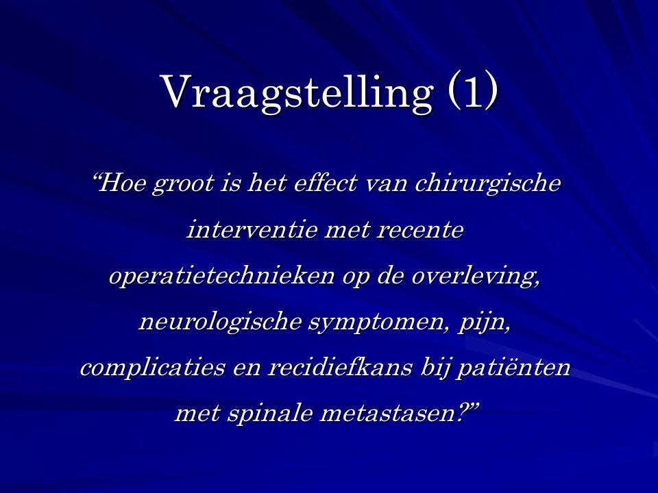 Vraagstelling (1)