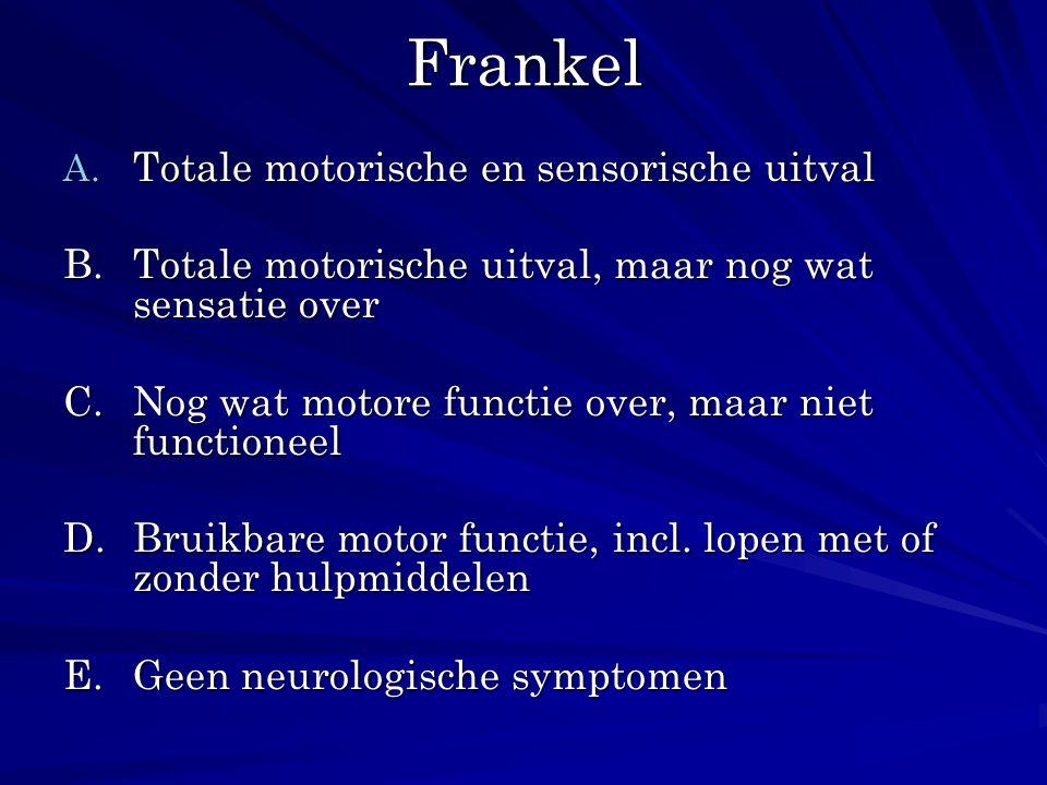 Frankel Totale motorische en sensorische uitval