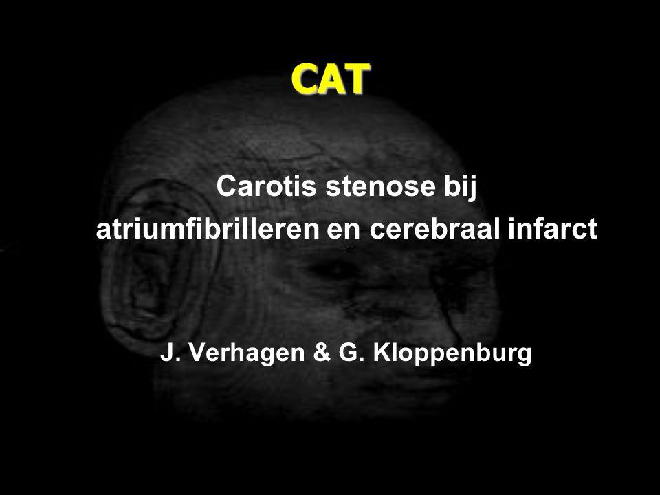 atriumfibrilleren en cerebraal infarct J. Verhagen & G. Kloppenburg