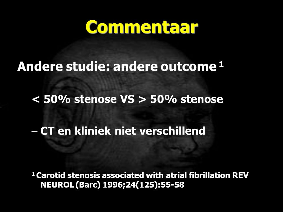 Commentaar Andere studie: andere outcome 1