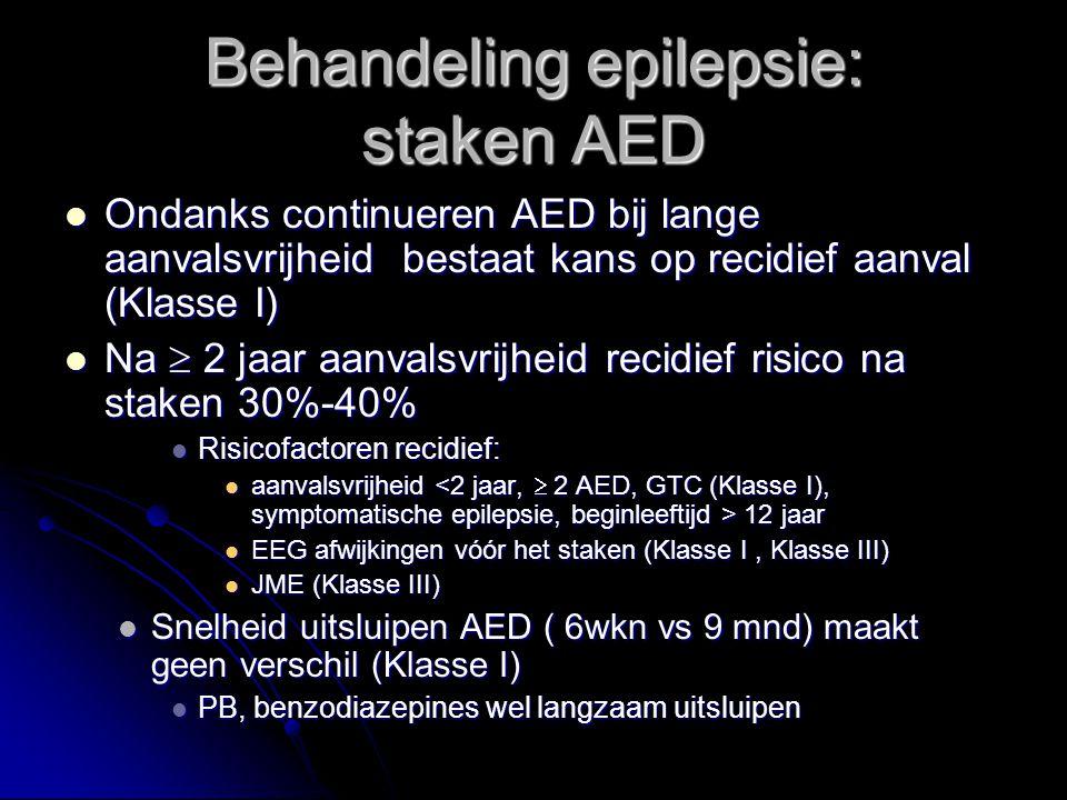 Behandeling epilepsie: staken AED