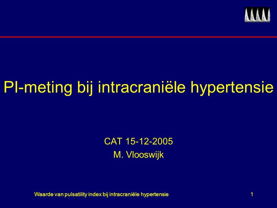 PI-meting bij intracraniële hypertensie