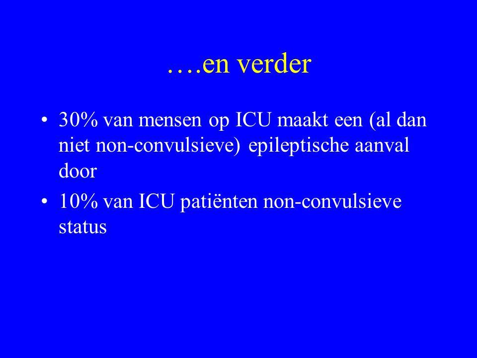 ….en verder 30% van mensen op ICU maakt een (al dan niet non-convulsieve) epileptische aanval door.