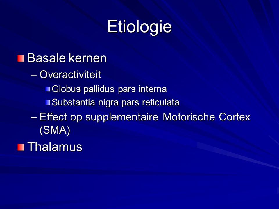 Etiologie Basale kernen Thalamus Overactiviteit