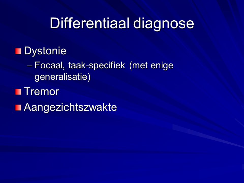 Differentiaal diagnose