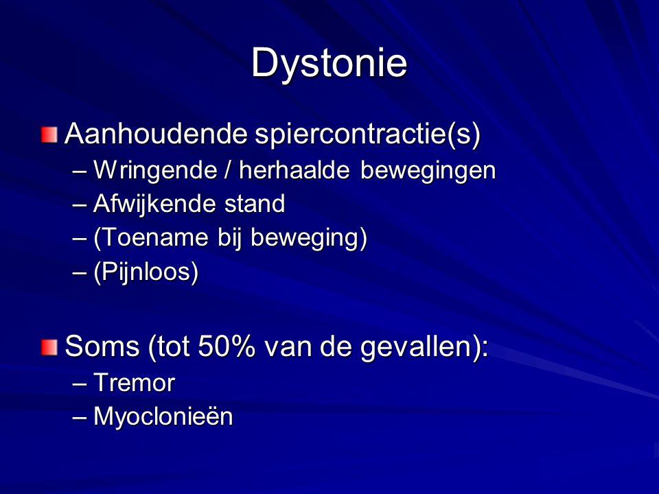 Dystonie Aanhoudende spiercontractie(s)