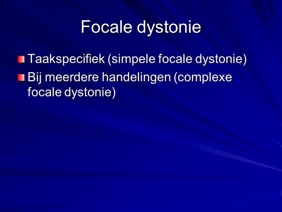 Focale dystonie Taakspecifiek (simpele focale dystonie)