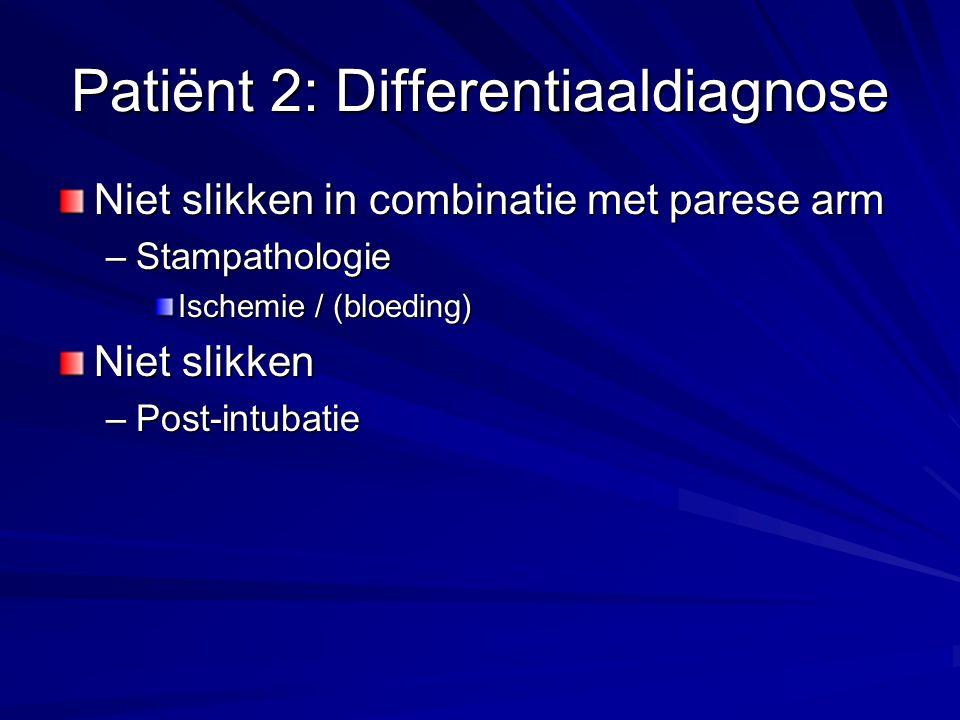 Patiënt 2: Differentiaaldiagnose