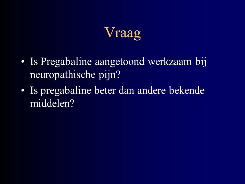 Vraag Is Pregabaline aangetoond werkzaam bij neuropathische pijn
