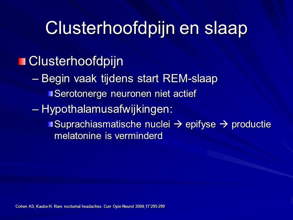 Clusterhoofdpijn en slaap