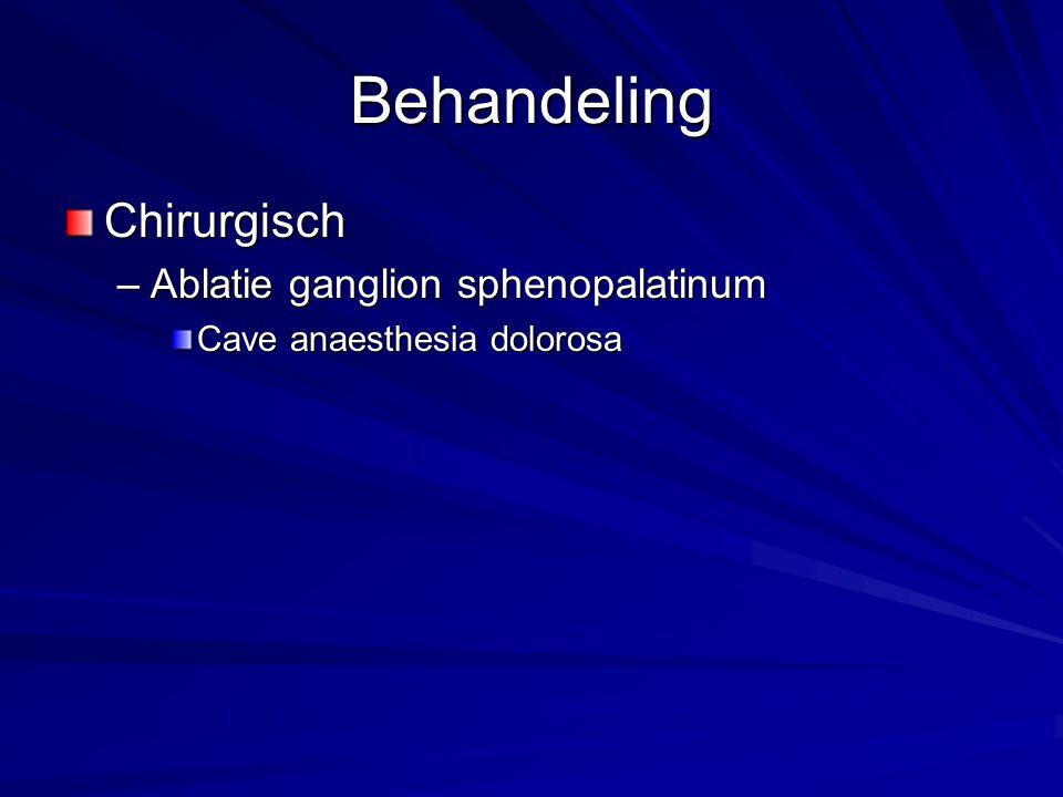 Behandeling Chirurgisch Ablatie ganglion sphenopalatinum