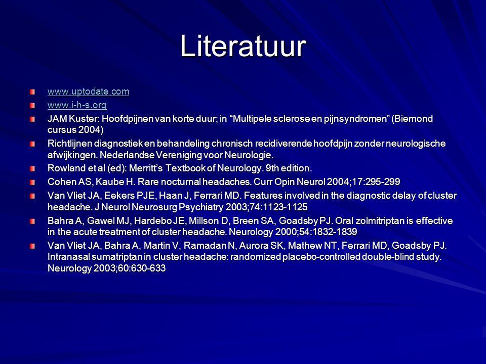 Literatuur www.uptodate.com www.i-h-s.org