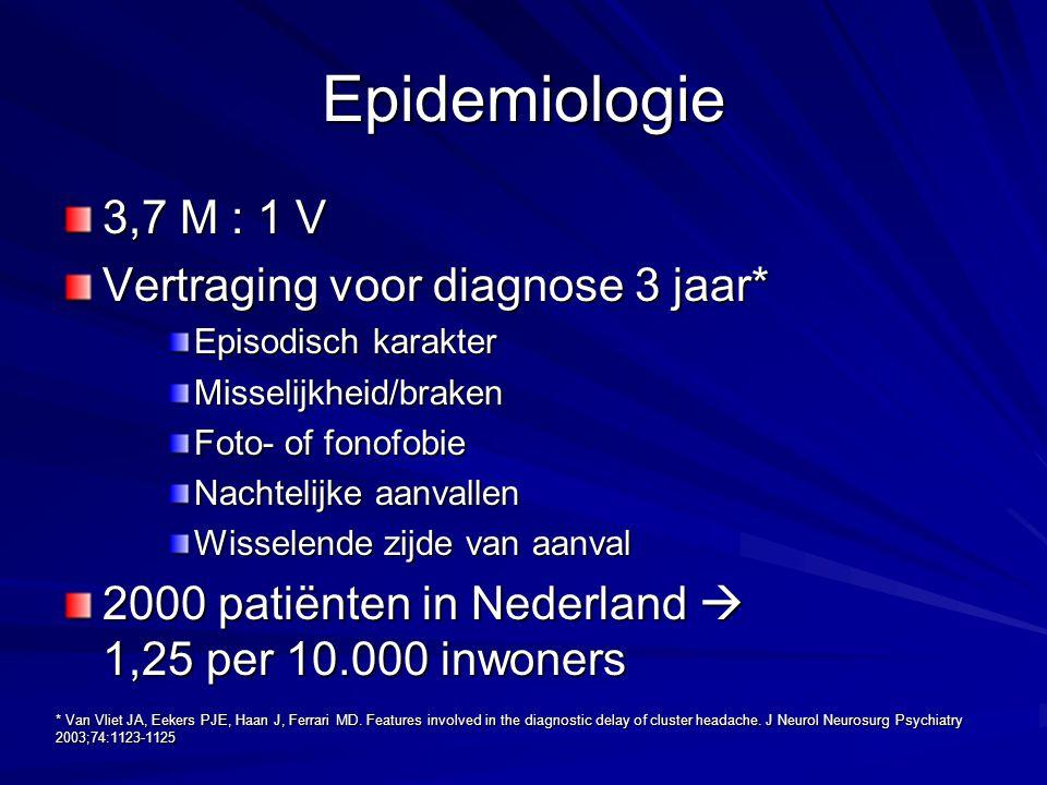 Epidemiologie 3,7 M : 1 V Vertraging voor diagnose 3 jaar*