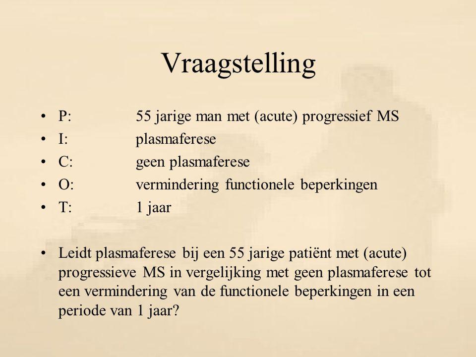 Vraagstelling P: 55 jarige man met (acute) progressief MS