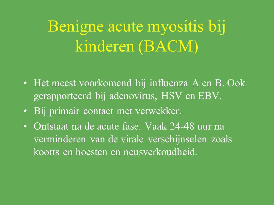 Benigne acute myositis bij kinderen (BACM)