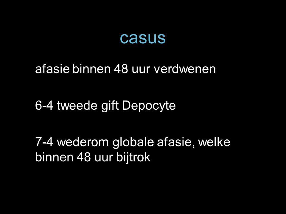 casus afasie binnen 48 uur verdwenen 6-4 tweede gift Depocyte