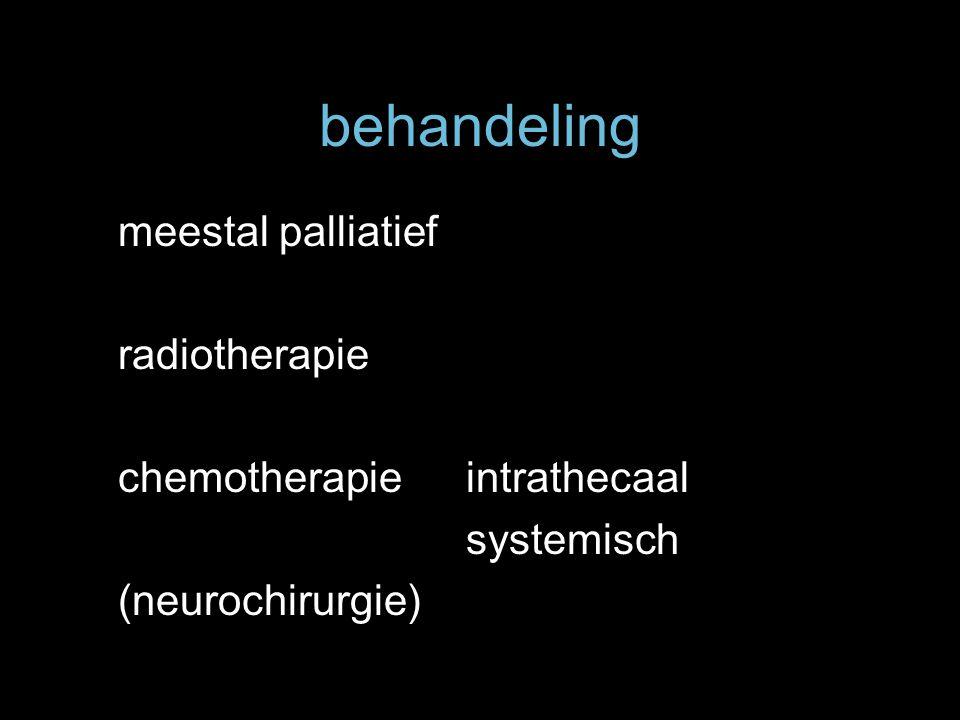 behandeling meestal palliatief radiotherapie